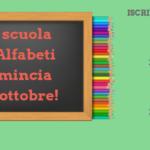 Inizia la scuola il 1° ottobre!